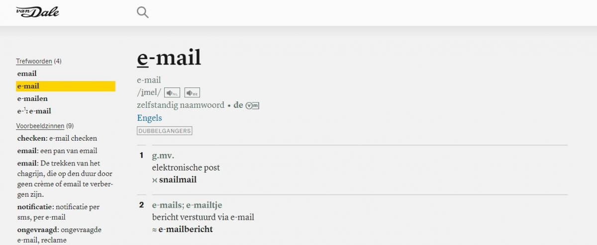 e-mail of email